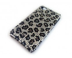 Clear Jet Crystal Leopard iPhone 4 & 4S Case