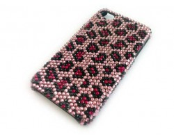 Pink Crystal Leopard iPhone 4 & 4S Case