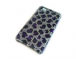 Purple Crystal Leopard iPhone 4 & 4S Case