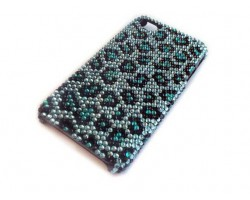Turquoise Crystal Leopard iPhone 4 & 4S Case