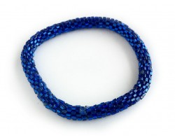 Blue Genuine Nepal Hand Crafted Roll On Mission Bracelets