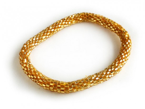 Gold Genuine Nepal Hand Crafted Roll On Mission Bracelets