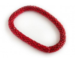 Red Genuine Nepal Hand Crafted Roll On Mission Bracelets