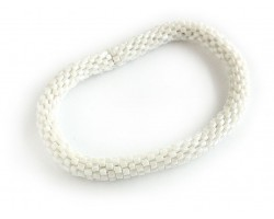 White Genuine Nepal Hand Crafted Roll On Mission Bracelets