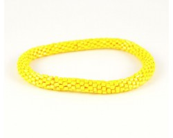 Yellow Genuine Nepal Hand Crafted Roll On Mission Bracelets
