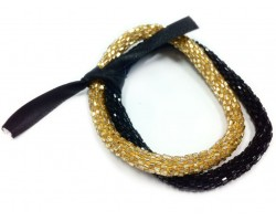 Black & Gold Genuine Nepal Roll On Mission Bracelets