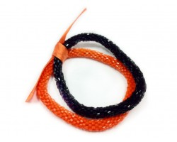 Black & Orange Genuine Nepal Roll On Mission Bracelets