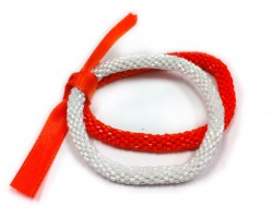 Orange & White Genuine Nepal Roll On Mission Bracelets