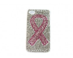 Pink Ribbon Crystal iPhone 4 & 4s Cell Case
