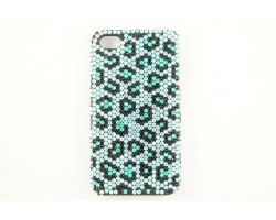Turquoise Crystal Leopard iPhone 5 Case