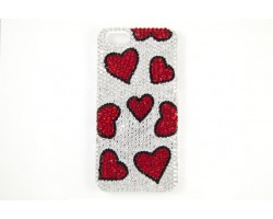 Red Heart Clear Crystal iPhone 5 Cell Phone Case