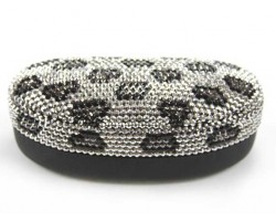 Jet Hematite Leopard Crystal Sun Glass Case