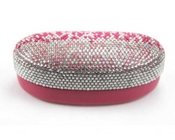 Pink Fade Crystal Sun Glass Case