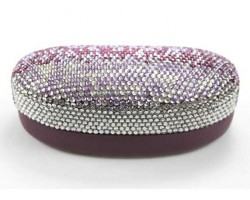 Purple Fade Crystal Sun Glass Case