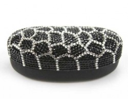 Black Tortoise Crystal Sun Glass Case