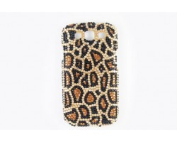 Brown Leopard Crystal Galaxy S III Cell Phone Case