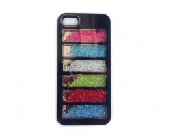 Black Assorted Crystal Rectangle Window iPhone 5 Cell Phone Case