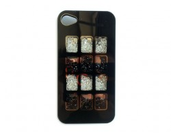 Black Jet & Clear Crystal Box Window iPhone 4 Cell Phone Case