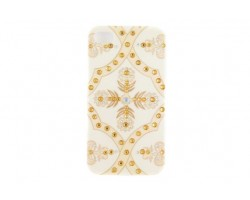 Ivory Baroque Floral Pattern Crystal iPhone 4 & 4S Case