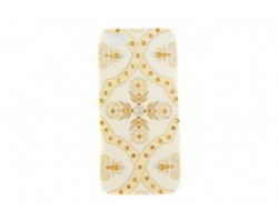 Ivory Baroque Floral Pattern Crystal iPhone 5 Case