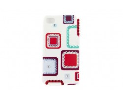 Blue Square Pattern Crystal iPhone 4 & 4S Cell Case