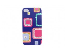 Square Pattern Multi Color Crystal iPhone 4 & 4S Cell Case