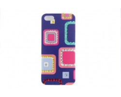 Square Pattern Multi Color Crystal iPhone 5 Cell Case