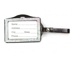 Clear AB Crystal Changeable Luggage ID Tag