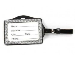 Clear Crystal Changeable Luggage ID Tag