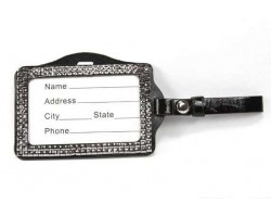 Hematite Crystal Changeable Luggage ID Tag