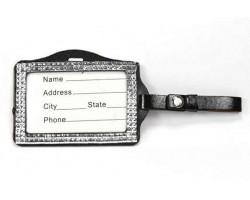 Metallic Crystal Changeable Luggage ID Tag