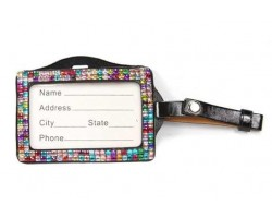 Multi Crystal Changeable Luggage ID Tag