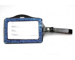 Sapphire Crystal Changeable Luggage ID Tag