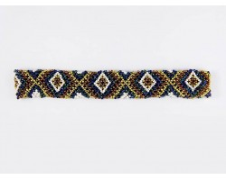 Multi Colored Seed Bead Criss Cross Stretch Headband