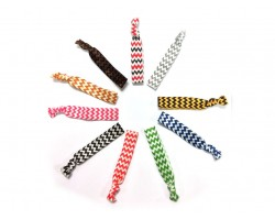 Assorted Color Chevron Stretch Hair Tie 30 Pieces