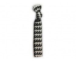 Houndstooth Black & White Stretch Hair Tie 30 Pieces