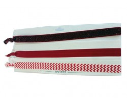 Red & White Plain & Chevron Stretch Headband 30 Pieces