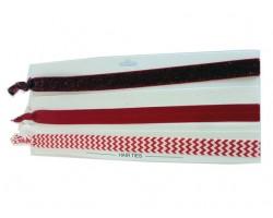 Red & White Plain & Chevron Stretch Headband 30 Pieces