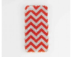 Orange & Clear Crystal Chevron iPhone 5 Cell Case
