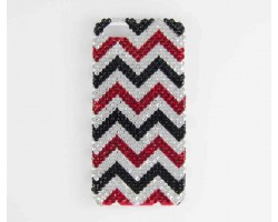 Black & Red Crystal Chevron iPhone 5 Cell Case
