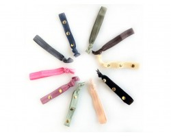 Assorted 11mm Studded Stretch Hair Tie/Band 10 Piece Set
