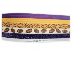 LSU Theme Stretch Headband 30 Pieces