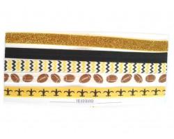 Saints Black & Gold Football & Chevron Stretch Headband 30 Pieces