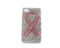Pink Ribbon Crystal iPhone 5 & 5s Cell Case