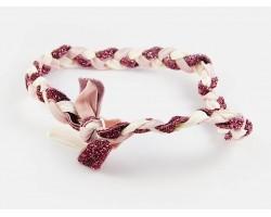Light Purple Cream Braided Ribbon Stretch Headband