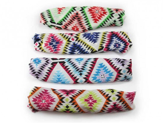Aztec Diamond Chevron Wide Cloth Headbands