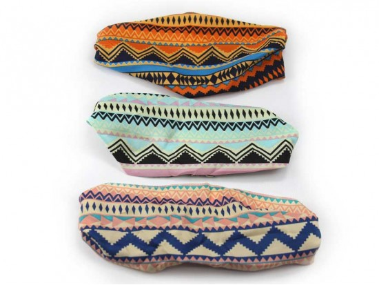 Aztec Chevron Wide Cloth Headbands