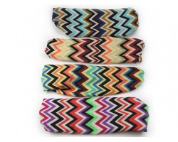 Multi Chevron Assorted Wide Cloth Headbands 12pc
