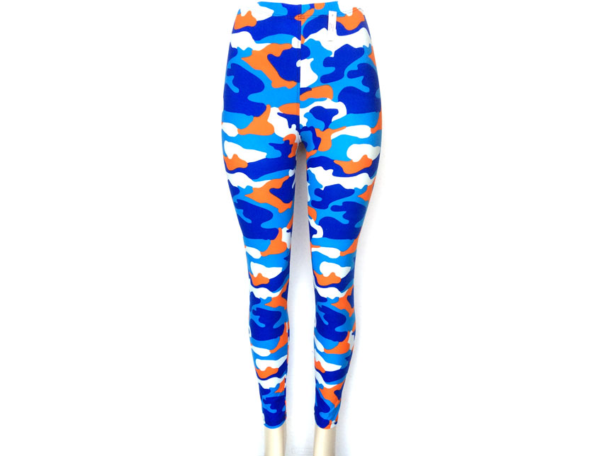 Orange And Blue Leggings