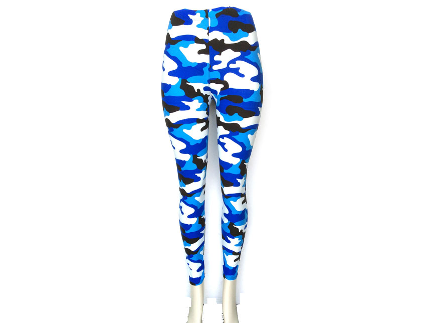 & White Camouflage Pattern Leggings
